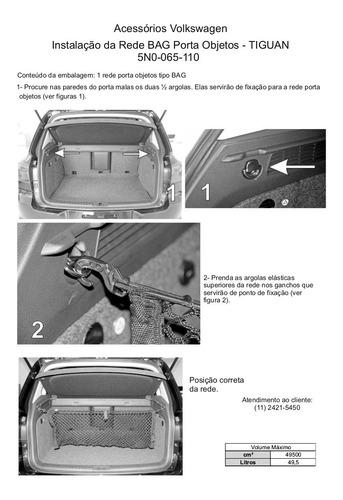 rede tipo bolsa porta objetos porta malas volkswagen tiguan