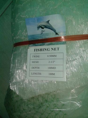 redes de pesca 2 1/2 calibre 0.50, 100 md x 100 mts,  5.6 kg