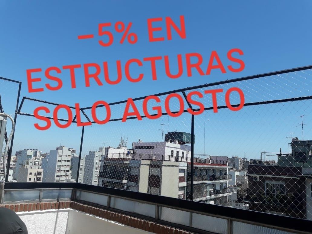 Redes De Proteccion En Terrazas Con Estructura Metalica