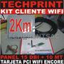 Kit Captura Wifi 2 Km Cliente Internet Gratis Panel 15 Dbi