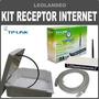 Kit Receptor Tp-link Antena16dbi Internet Gratis Cable 15mt