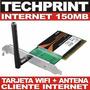 Pci Wifi D-link 150 Mb Cliente Internet Gratis Antena Omni