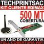 Kit Pc Captura Wifi 500mt Internet Gratis Edimax Antena Omni
