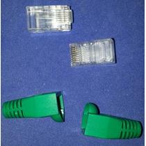 Miyako Usa Kr 204-8 Conector Rj45 Y Capucha Verde, 100 Pza