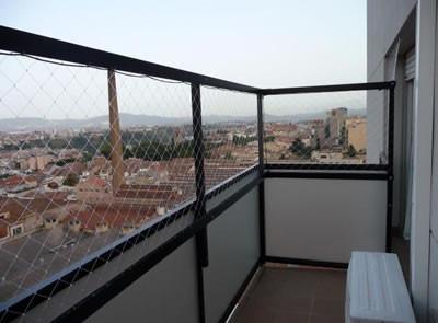 redes seguridad instalacion. balcon, ventana, palomas