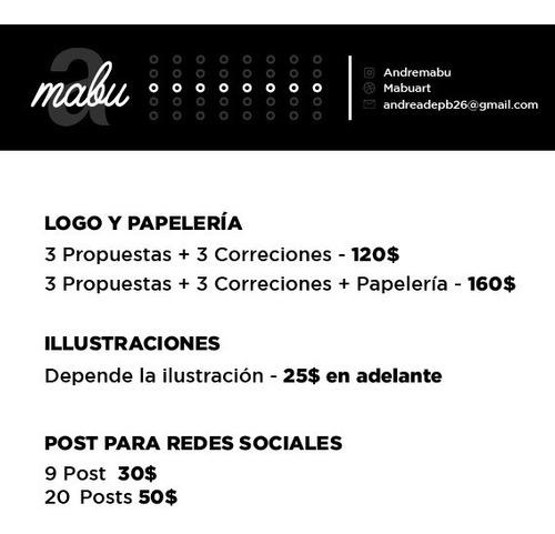redes sociales ,ilustraciones y logo