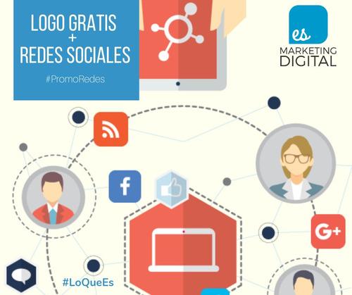 redes sociales y logo   marketing para mypes