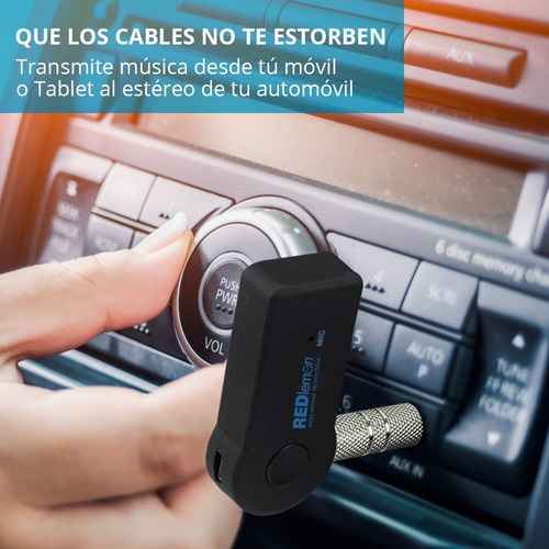 redlemon adaptador de audio 3.5mm a bluetooth autoestéreos