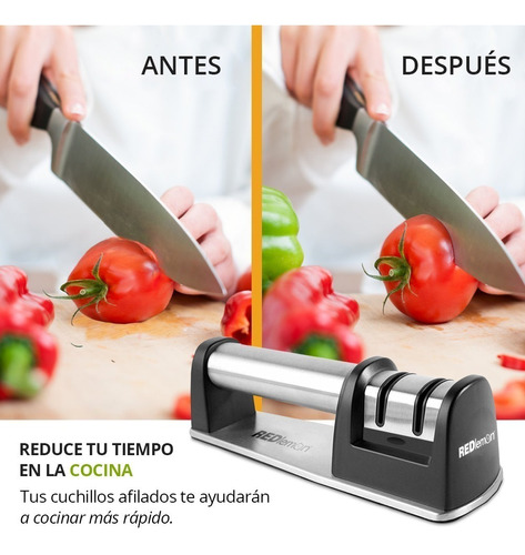 redlemon afilador cuchillos profesional 2 etapas inoxidable