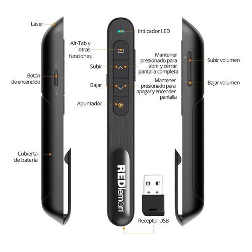 redlemon apuntador láser presentador inalámbrico powerpoint
