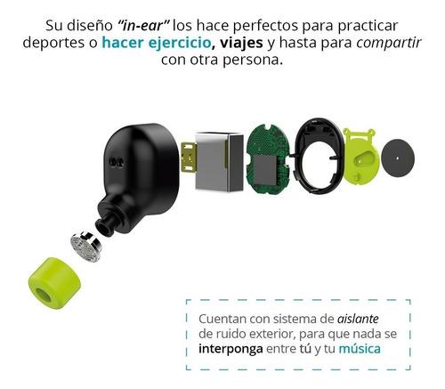 redlemon audífonos bluetooth tws manos libres base de carga