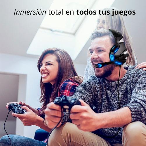 redlemon audífonos gamer hd led estéreo 360° hunterspider v3