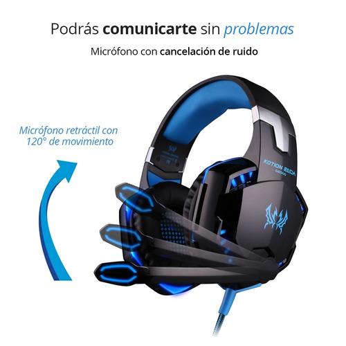 redlemon audífonos gamer micrófono led kotion each g2000 led