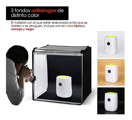 redlemon caja de luz para fotografía profesional estudio led