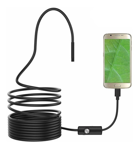 redlemon camara endoscopio otg android 5 m usb cable led