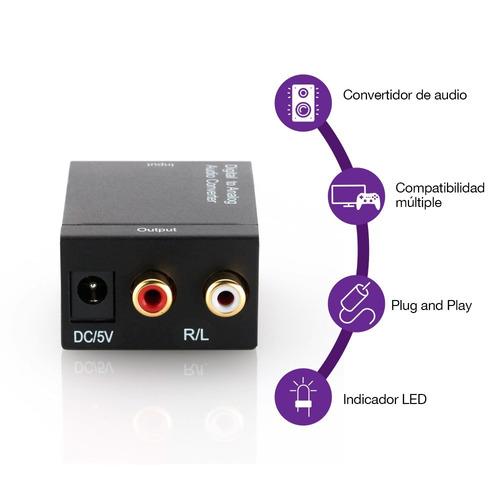redlemon convertidor audio digital optico a rca l/r análogo