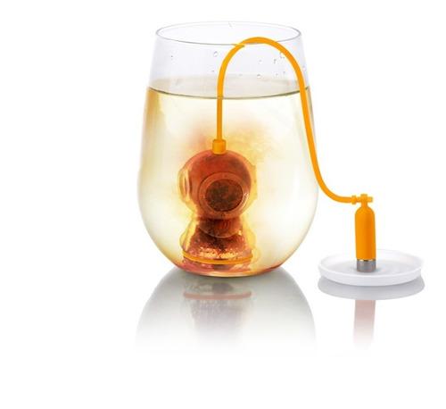 redlemon infusor de té forma buzo pesa silicón 100% lavable