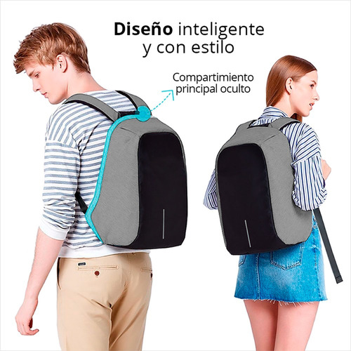 redlemon mochila backpack antirrobo impermeable puerto usb