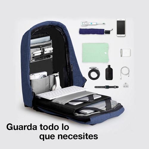 redlemon mochila backpack antirrobo impermeable puerto usb
