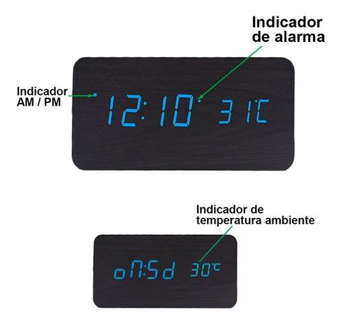 redlemon reloj despertador de madera minimalista decoracion
