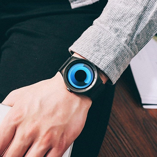 redlemon reloj innovador sinobi remolino acero inoxidable