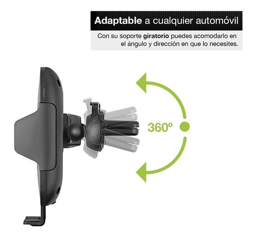 redlemon soporte cargador inalámbrico para auto universal qi