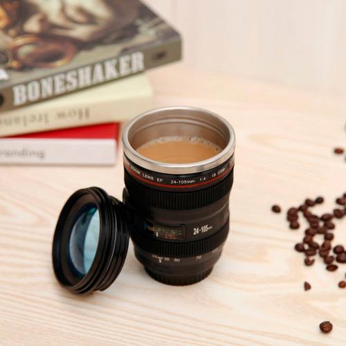 redlemon termo taza térmica forma lente cámara réflex 250 ml