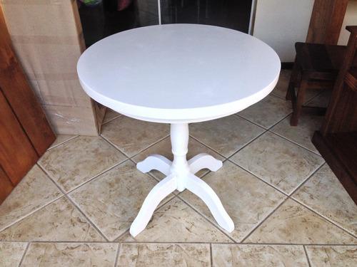 redonda madeira mesa jantar
