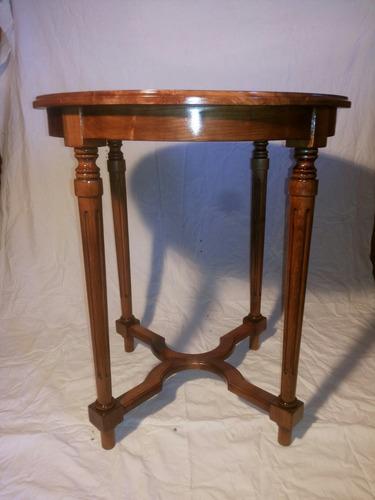 redonda madera mesa