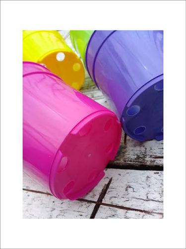 redondas plastico macetas