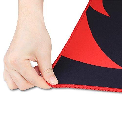 redragon gaming mouse pad extra grande xxl extendido, bordes
