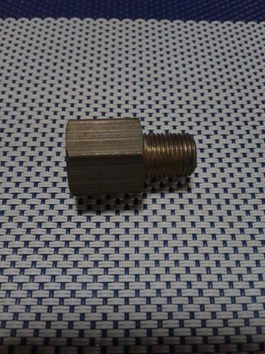 reduccion de bronce macho a macho de de 13mm a 10mm fina