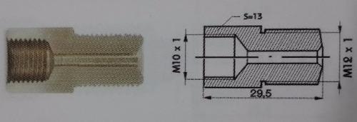 reducción de freno bronce 10 x 1 h s/c 12x1 m s/c gr frenos