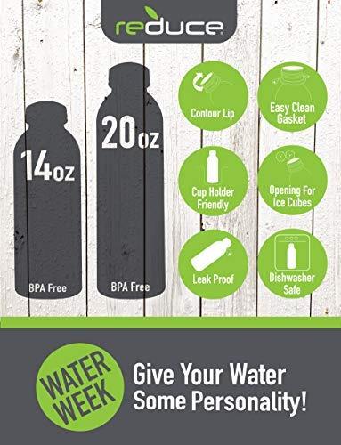 reducir waterweek reutilizable agua botella set con nevera b