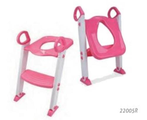 redutor de assento com escada infantil vaso sanitário rosa