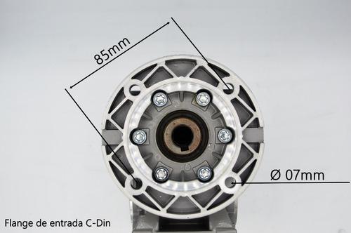 redutor de velocidade q40 1/80  71b14 eixo vazado 18mm romak