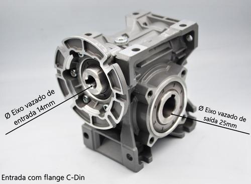 redutor de velocidade q50 1/40 eixo vazado 25mm