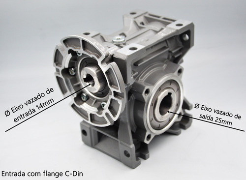 redutor de velocidade q50 1/60 71b14 eixo vazado 25mm