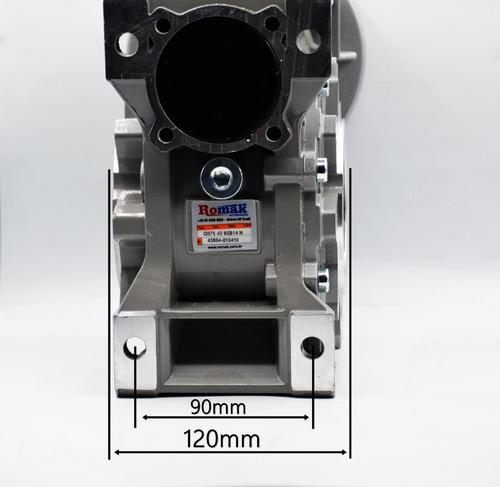 redutor  q75 1/40 90b14 eixo vazado 28mm romak