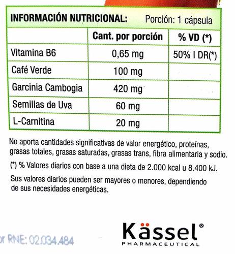 reduwohl 60 cápsulas de garcinia cambogia + cafe verde
