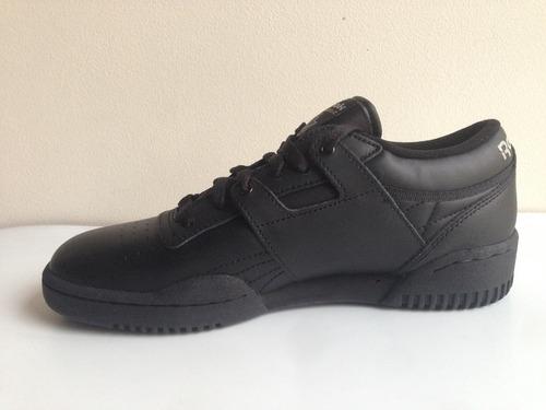 reebok clasico negro 100% original bota hombre y mas