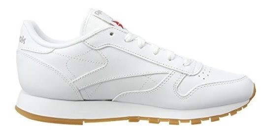 new concept 51d9f 6bd7d Reebok Classic Leather Womens Instructores Goma Blanca 45 U