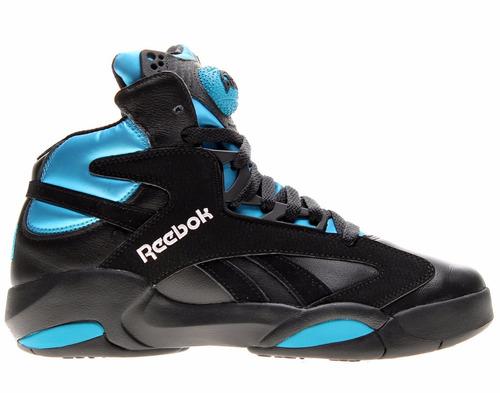 reebok shaq attack us 9.5 nuevos con caja color negro y azul