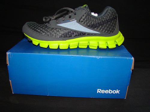 reebok smoothflex cushrun grvl/green/blue/w 8 mex