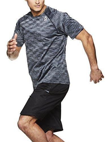 reebok supersonic camiseta de entrenamiento de cuello redon