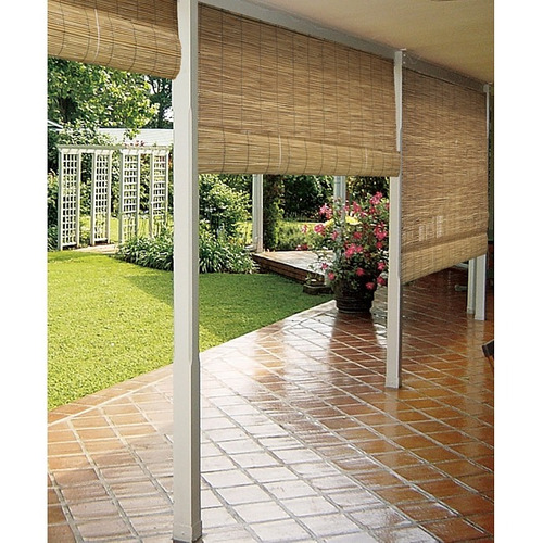 reed natural jardin roll-up blind