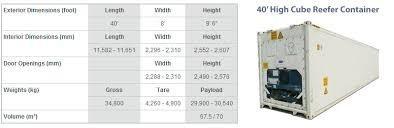 reefers/contenedores marítimos refrigerados 40 camaras frigo