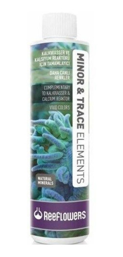 reeflowers minor & trace elements 250ml repor elemento traço
