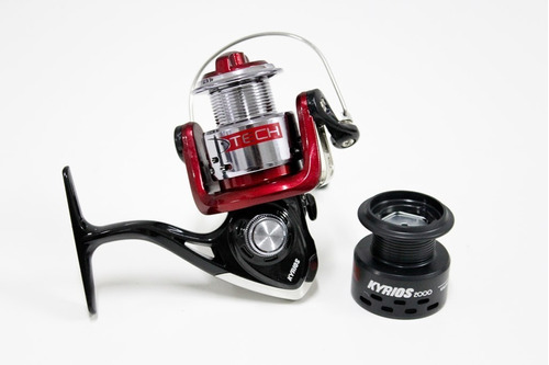 reel frontal tech kyrios 2 rulemanes pesca pejerrey spinning