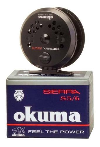 reel okuma mosca sierra 5/6 1bb - cuerpo de aluminio - elbun